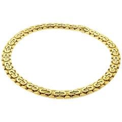 Cartier Gold Vintage Art Deco 18 Karat Chain Link Choker circa 1996 Necklace