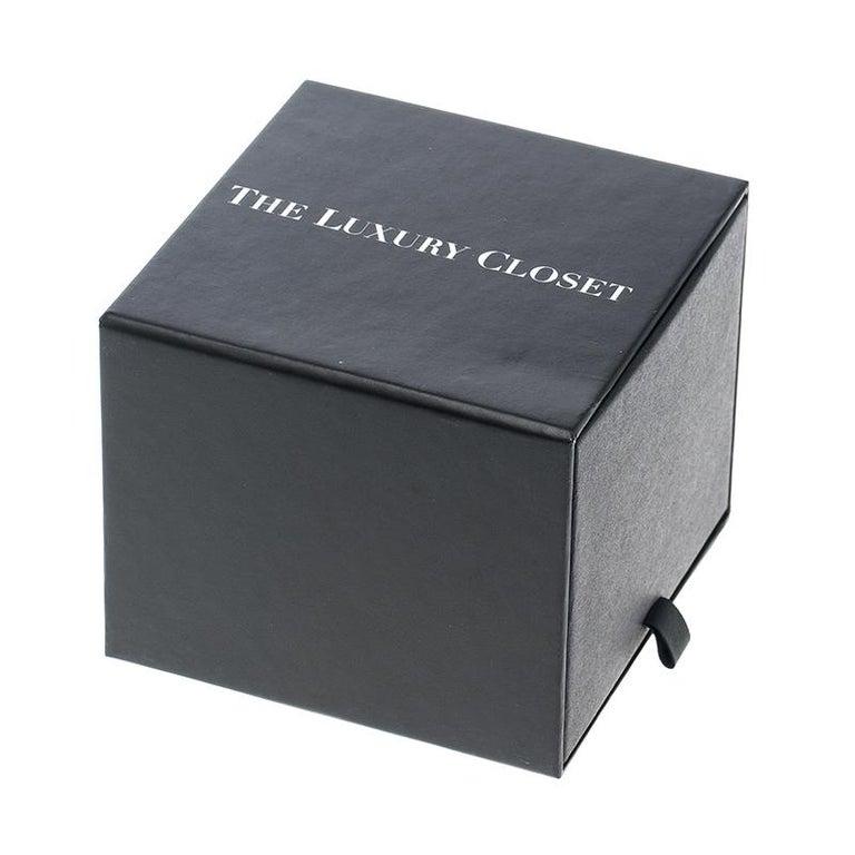 Cartier Grey Stainless Steel Santos Round Women's Wristwatch 32MM For Sale 5