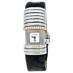 Cartier Grey Titanium and Gold Link Declaration Women's Wristwatch 16MM
