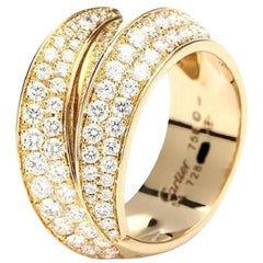 Cartier Griffe Ring 18 Karat Yellow Gold with Diamond