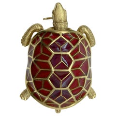 Cartier Hardstone Turtle Brooch