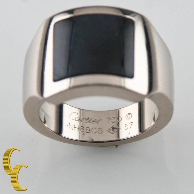 d44150854e9d2 Cartier Hawk's Eye Santos Dumont Men's 18 Karat White Gold Ring