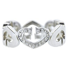 Cartier Heart and Symbol Diamond 18K White Gold Ring