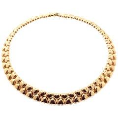 Cartier Heart Choker Yellow Gold Necklace