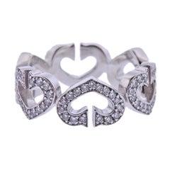 Cartier Heart Diamond Gold Band Ring
