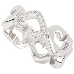 Cartier Hearts and Symbols Diamond Set White Gold Ring