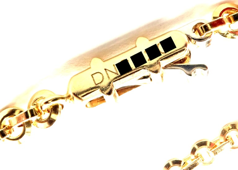 Cartier Hematite Dolphin Yellow Gold Pendant Link Necklace For Sale 3