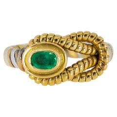 Cartier Hercules Knot Emerald Gold Ring