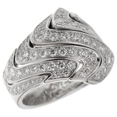 Cartier High Jewelry Pavé Diamond Cocktail White Gold Ring