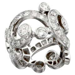 Cartier High Jewelry Platinum Diamond Cocktail Ring