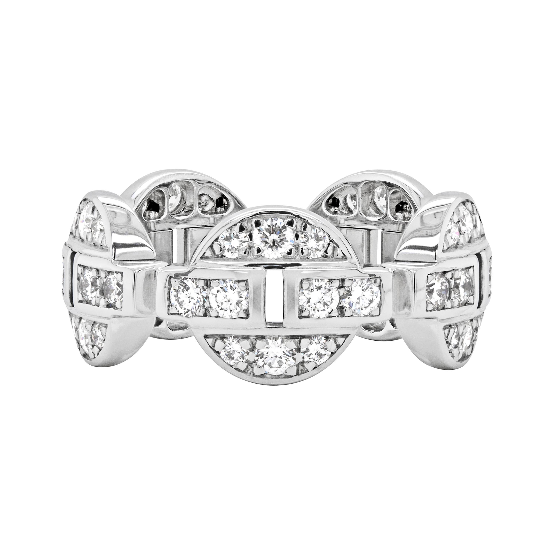 Cartier Himalia Diamond 18 Carat White Gold Band Ring