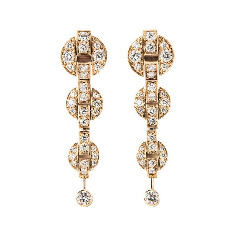 Cartier Himalia Diamond Earrings In Good Condition For Sale In Boston, MA