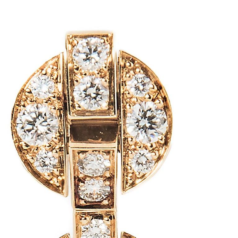 Women's or Men's Cartier Himalia Diamond Earrings For Sale