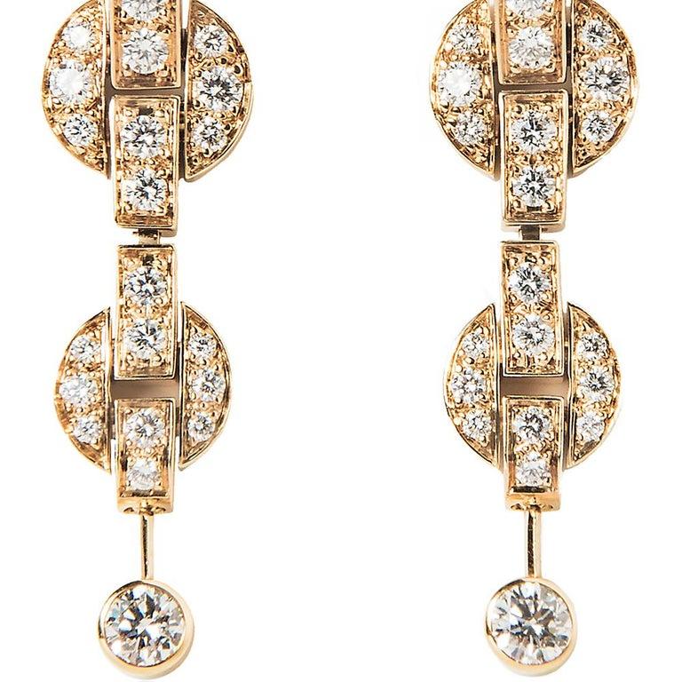 Cartier Himalia Diamond Earrings For Sale 1