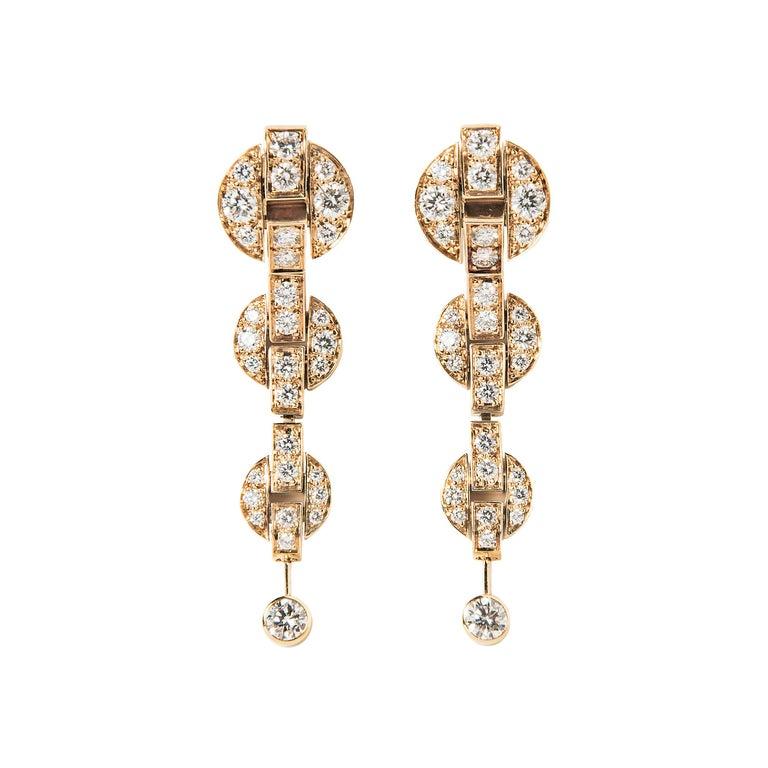 Cartier Himalia Diamond Earrings For Sale