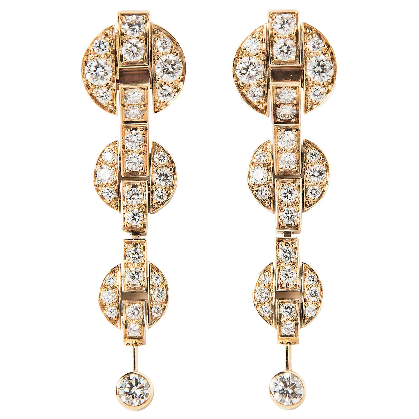 Cartier Himalia Diamond Earrings