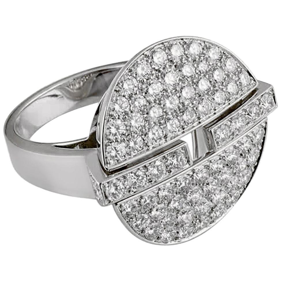 Cartier Himalia Diamond White Gold Ring