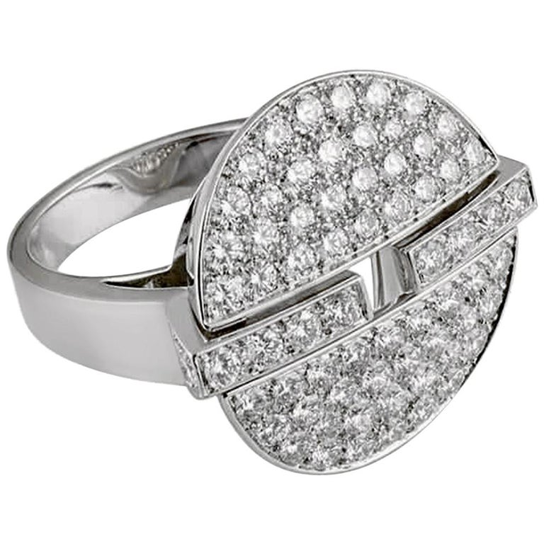 Cartier Himalia Diamond White Gold Ring For Sale