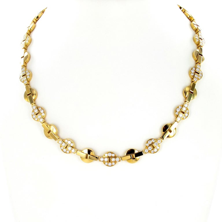 Contemporary Cartier Himalia Yellow Gold Necklace with Diamonds For Sale