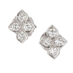 Cartier Hindu Diamond White Gold Earrings
