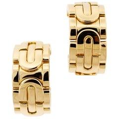 Cartier Hoop Earrings, 18 Karat Yellow Gold
