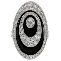Cartier Hypnose Diamond Black Ceramic White Gold Ring