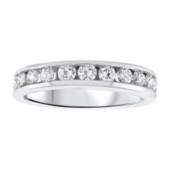 Cartier Inspired Channel Set Diamond Eternity Ring