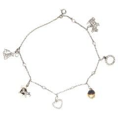 Cartier J. Lacloche Art Deco 6 Charm Platinum Bracelet
