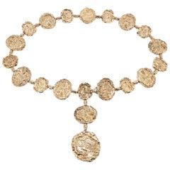 "Cartier ""Jackie O"" Belt or Necklace in 24 Karat Gold Vermeil, Signed, circa 1970"