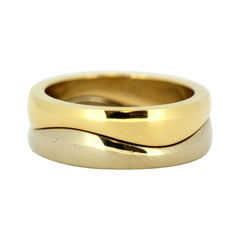 Cartier / Jacques 18 Karat Gold Double Ring Band, circa 1990s