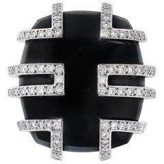 Cartier Jadeite and Diamond Ring Le Baiser du Dragon