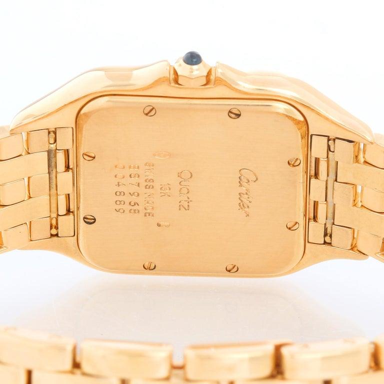 Cartier Jumbo Panther 18k Yellow Gold Men's Quartz Watch with Date W25014B9 1