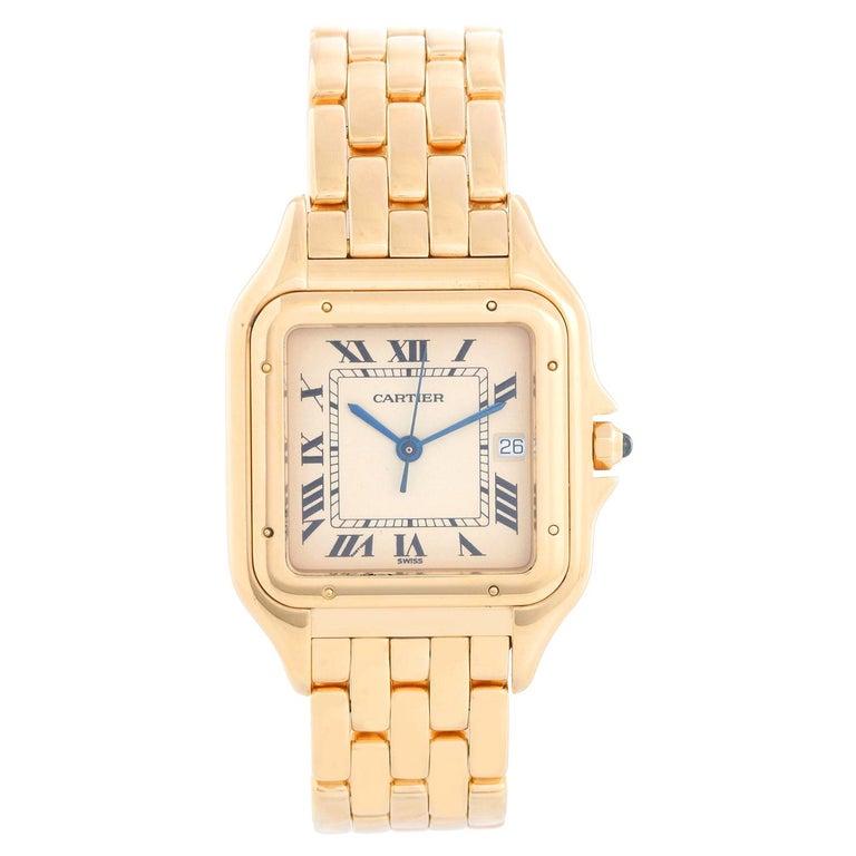 Cartier Jumbo Panther 18k Yellow Gold Men's Quartz Watch with Date W25014B9