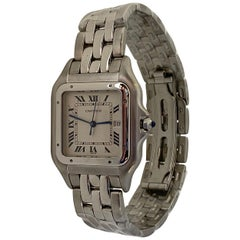 Cartier Jumbo XL Panthere Watch All Stainless Steel Quartz, Date