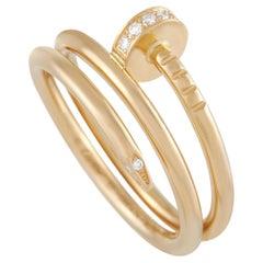 Cartier Just un Clou 18K Yellow Gold 0.08 Ct Diamond Ring