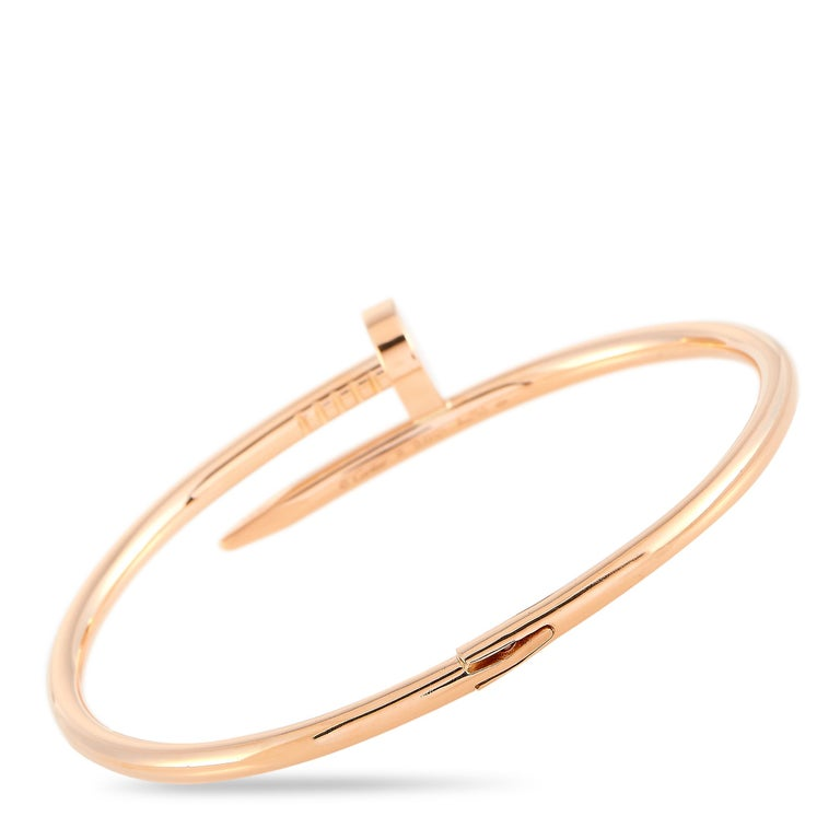 Women's Cartier Juste un Clou 18 Karat Rose Gold Bracelet For Sale