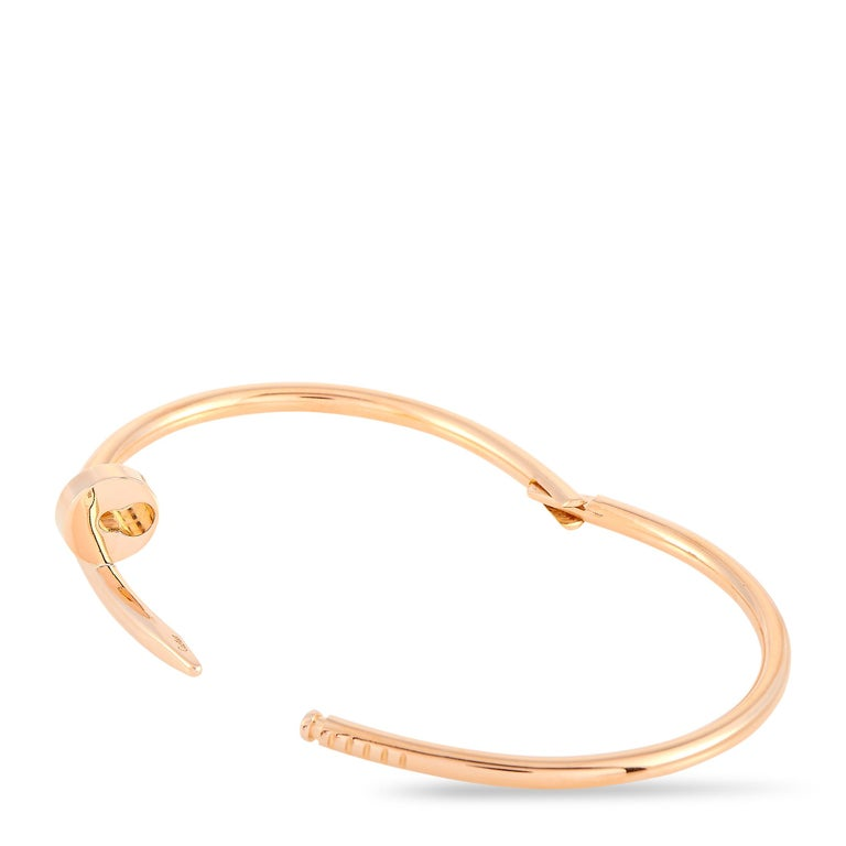Cartier Juste un Clou 18 Karat Rose Gold Bracelet For Sale 1