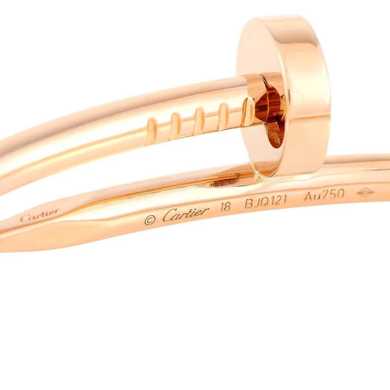 Cartier Juste un Clou 18 Karat Rose Gold Bracelet For Sale 2