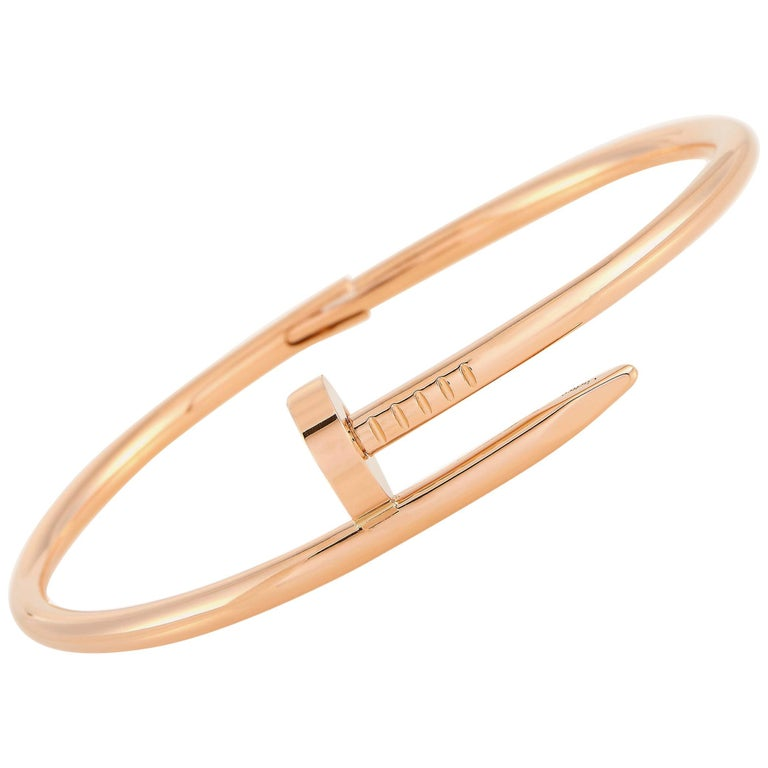 Cartier Juste un Clou 18 Karat Rose Gold Bracelet For Sale