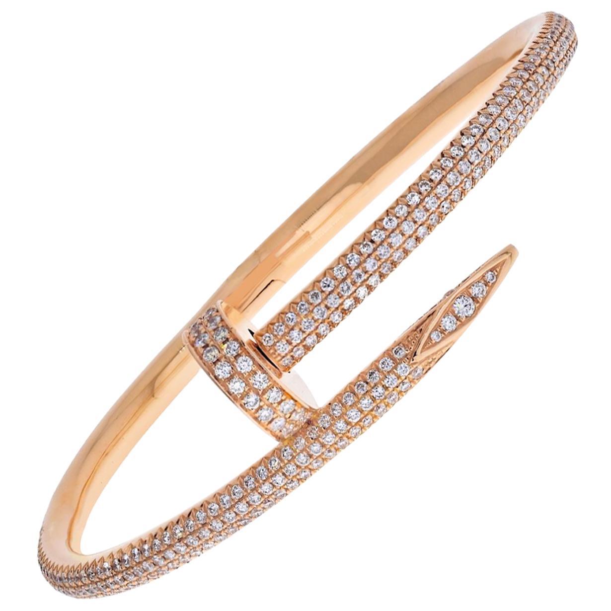 Cartier Juste Un Clou 18 Karat Rose Gold Bracelet