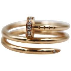 Cartier Juste Un Clou 18 Karat Rose Gold Diamonds Ring