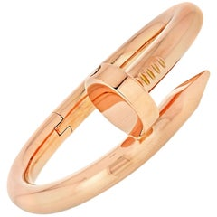 Cartier Juste Un Clou 18 Karat Rose Gold Large Model Bracelet