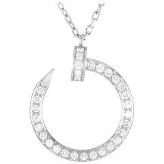 Cartier Juste un Clou 18 Karat White Gold Diamond Pendant Necklace