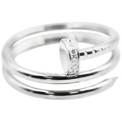 Cartier Juste Un Clou 18 Karat White Gold Diamonds Ring