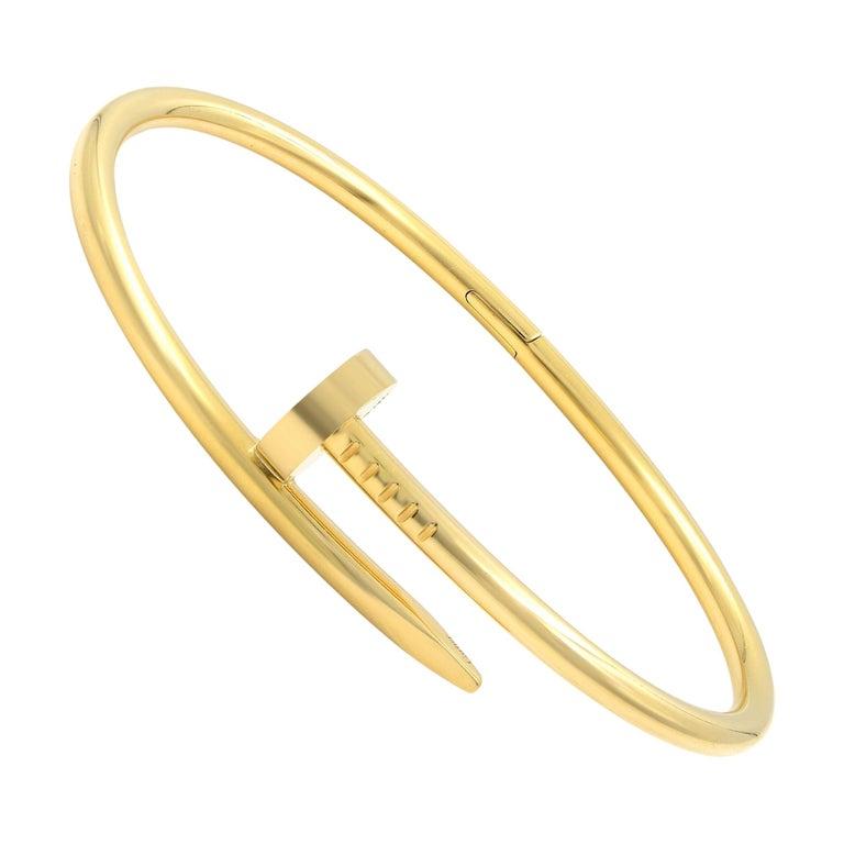 Cartier Juste Un Clou 18 Karat Yellow Gold Bracelet FWV681