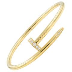 Cartier Juste Un Clou 18 Karat Yellow Gold with Diamonds Bracelet