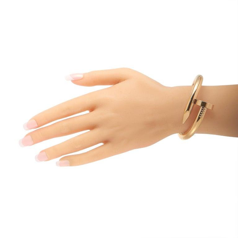 Cartier Juste un Clou 18 Karat Rose Gold Bracelet Size L In Excellent Condition For Sale In Southampton, PA