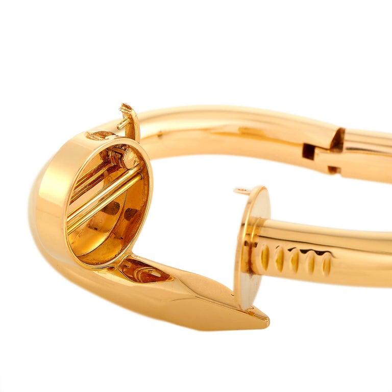 Women's Cartier Juste un Clou 18 Karat Rose Gold Bracelet Size L For Sale