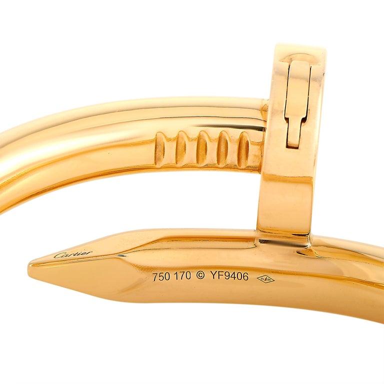 Cartier Juste un Clou 18 Karat Rose Gold Bracelet Size L For Sale 1