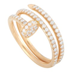 Cartier Juste Un Clou 18K Rose Gold Diamond Ring